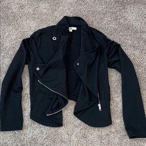Ya Black Waterfall Drape Jacket Sz Small